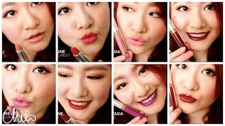 getlinkyoutube.com-♡ 試色 ♡ Maybelline霧面唇膏+Anastasia Beverly Hills霧面唇彩 ♡ Matte Lip color Swatches【Chiao】