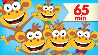 getlinkyoutube.com-Five Little Monkeys | + More Super Simple Songs & Nursery Rhymes