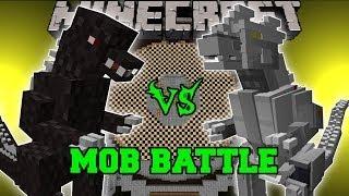 getlinkyoutube.com-GODZILLA VS KIRYU (MECHAGODZILLA) Minecraft Mob Battles - Godzilla Mods