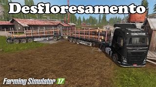getlinkyoutube.com-Farming Simulaor 17 - Vendendo Madeira Com Reboque automático