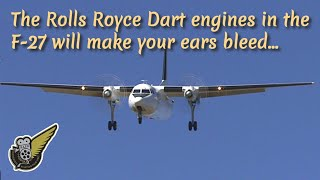 getlinkyoutube.com-Fokker F-27 Friendship landing with sound of Rolls Royce Dart engines