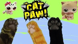 getlinkyoutube.com-Fun Kitty Cat Paw Joke Gift Toy Review Unboxing Play Pretend Animal Playing