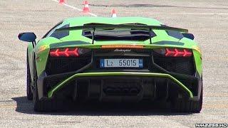 getlinkyoutube.com-Lamborghini Aventador LP750 SV Exhaust Sound - Starts, Accelerations, FlyBys & More!