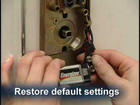 How to Restore the Keypad Lock to Original Factory Settings