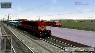 getlinkyoutube.com-MSTS Indian Railway Military cum Frieght train