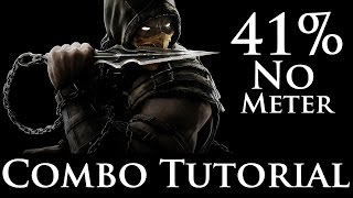 getlinkyoutube.com-Mortal Kombat X - Combo Tutorial - Scorpion (41% No Meter) (Hellfire)