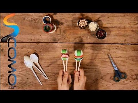 Hacer maracas con materiales reciclados