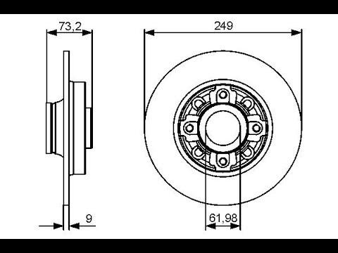 Замена тормозных дисков задние/Peugeot 308 C4