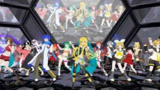 getlinkyoutube.com-19 Vocaloids - Lily Lily Burning Night [MMD]