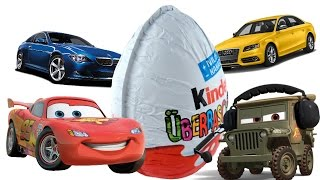 getlinkyoutube.com-Kinder Surprise Eggs Disney Pixar Cars 2 Mini modelle Киндер Сюрпризы Тачки