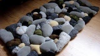 getlinkyoutube.com-Wa'Ou- tutorial#1 how to make a Beach Rock Rug