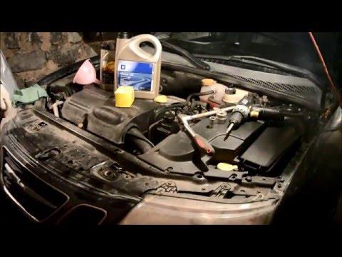 Замена масла на Saab 9.3 2.0t