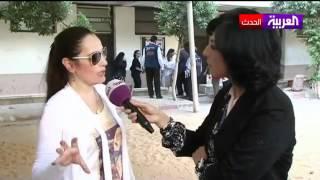 أول ظهور للفنانة شيرهان على فضائية بعد اعتزالها