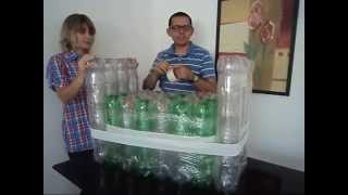 getlinkyoutube.com-Ótima POLTRONA feita com garrafa PET e papelão - Parte 1