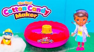 getlinkyoutube.com-COTTON CANDY Maker Paw Patrol + Doc McStuffins How to Make Cotton Candy Video Unboxing