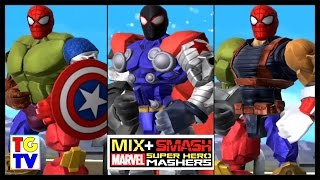 getlinkyoutube.com-Marvel Super Hero Mashers Spider-Man Captain America (Battles Edited) | Mix + Smash
