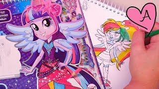 Equestria Girls - Dibujo modas a Twilight, Rainbow Dash, Rarity, Pinkie Pie, Fluttershy y AppleJack