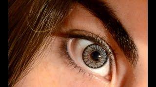 getlinkyoutube.com-Soflens Bausch&Lomb Platinum on brown eyes (try on)