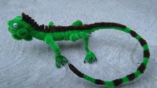 getlinkyoutube.com-Como hacer una iguana con limpiapipas