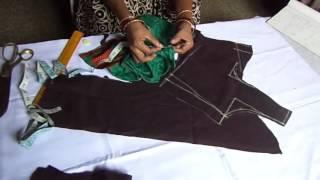 getlinkyoutube.com-Blouse Cutting Tutorial In Telugu