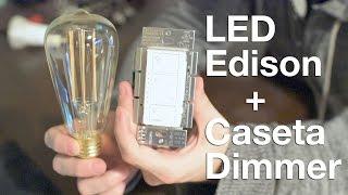 getlinkyoutube.com-Dimming Edison Style LED Bulbs with Lutron Caseta