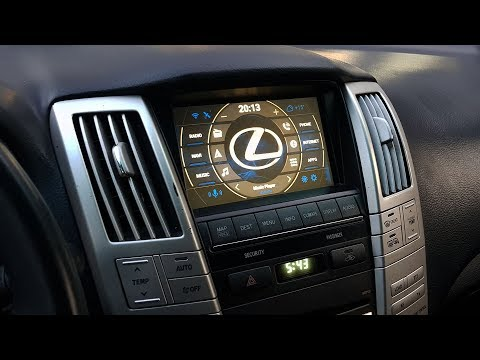 Lexus RX 2007-2010 установка блока навигации с ОС Андроид
