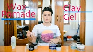 getlinkyoutube.com-Hair Products - Wax, Pomade, Clay, Gel ~ What's the Difference?