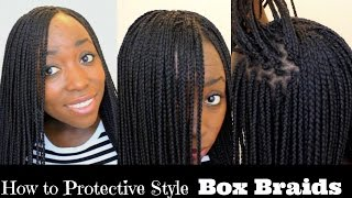 getlinkyoutube.com-How to Box Braid Your Own Hair feather Tips and Seal Box Braids Ends Protective Style