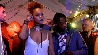 getlinkyoutube.com-EXCLUSIVE: Sexy Rihanna PARTYING HARD with rumored boyfriend Travis Scott at a concert in New York