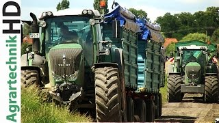 getlinkyoutube.com-BIG HARVEST / New Holland Combines CR9080 / Fendt Traktoren / Getreide / AgrartechnikHD