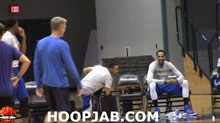 FUNNY! Warrior Players LAUGH At Steph Curry For Falling Down Over 3 Chairs! HoopJab Shaqtin A Fool