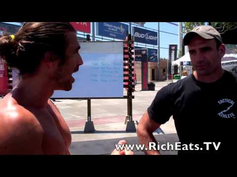 CrossFit Games  2012 - Jeff Martone Kettle Bell interview by Rich Eats