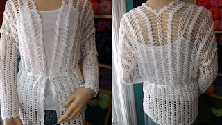 getlinkyoutube.com-Crochet cardigan en horquillas - con Ruby Stedman
