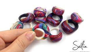 getlinkyoutube.com-Видео МК: Яркое цельное кольцо из полимерной глины с вырезным отверстием! (Часть2)