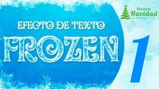 """EFECTO DE TEXTO FROZEN // Tutorial Photoshop - Capitulo 1 - """"Diseña Tu Navidad"""""""