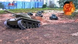 getlinkyoutube.com-8 Tanks on the move! German Leopard 2A6 Pershing Snow Leopard US Sherman Walker Bulldog Russia KV-1
