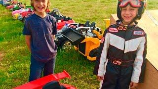 Power Wheels Collection - 27 Cars! | Gabe and Garrett