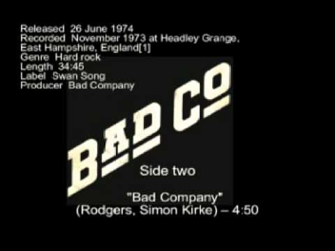 BAD COMPANY- BAD CO FULL - 1973