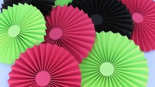 getlinkyoutube.com-DIY Paper Crafts :: How to make simple Paper ROSETTES// SPRING FLOWERS - Innovative Arts