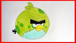 getlinkyoutube.com-How to draw The Incredible Terence from Angry Birds Space