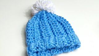getlinkyoutube.com-How to Crochet Chunky Beanie Hat with Pom