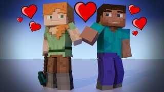 getlinkyoutube.com-Minecraft [XBOX & PSN] New Skin - Steve Gets A Girl Friend ?