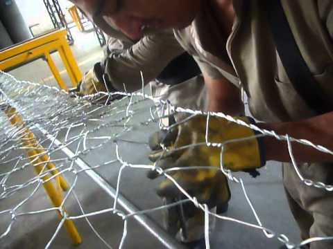 Proceso de fabricacion de mallas para gaviones- Carcel bellavista (Medellin-Antioquia)