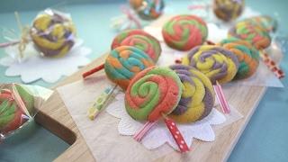 getlinkyoutube.com-cookie  candies キャンディみたいな可愛いクッキー くるくる巻いてる~♪