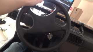 getlinkyoutube.com-real steering wheel attached to a pc USB wheel