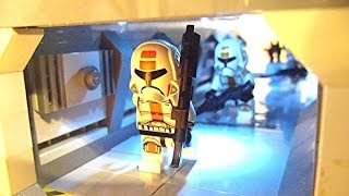 LEGO Star Wars - Old Republic Base on Malastare (WORKING LIGHTS AND DOOR!)