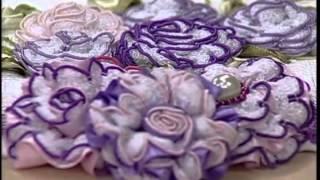 getlinkyoutube.com-Flores Bordadas com Valéria Soares - Vitrine do Artesanato na TV