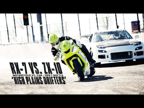 Motorcycle vs. Car Drift Battle