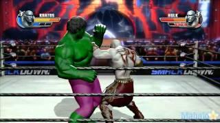 getlinkyoutube.com-WWE All Stars Grudge Match - Kratos Vs. The Hulk
