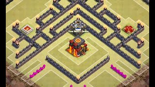 """getlinkyoutube.com-TH10 War Base Southern Teaser - """"The Crown"""" (After Update - 275 Walls) - Clash Of Clans"""